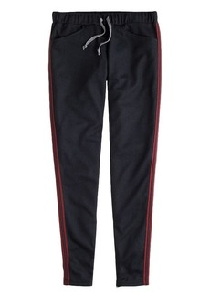 Wool racing-stripe track pant