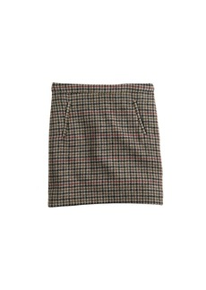 Zip-pocket mini skirt in tweed