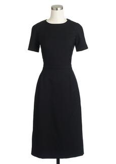 Zip-shoulder dress in Super 120s wool