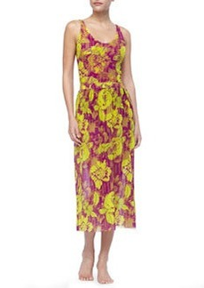 Floral-Print Chiffon Skirt   Floral-Print Chiffon Skirt