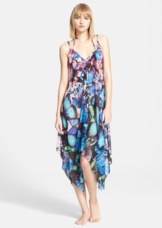Jean Paul Gaultier Butterfly Print Tulle Cover-Up Dress