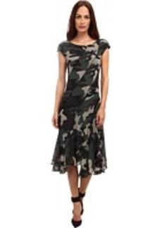 Jean Paul Gaultier Camo Tulle Cap Sleeve Bias Dress