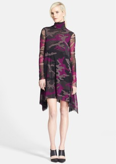 Jean Paul Gaultier Camo Turtleneck Tulle Dress
