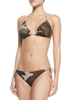 Jean Paul Gaultier Camouflage-Print Halter Two-Piece