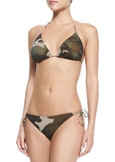 Jean Paul Gaultier Camouflage-Print Halter Two-Piece
