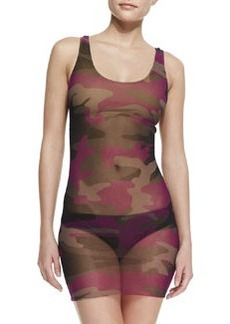 Jean Paul Gaultier Camouflage Sheer-Overlay Tankini