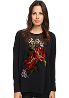 Jean Paul Gaultier Cotton Fleece A-Line Sweatshirt With Embroidery