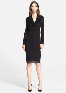 Jean Paul Gaultier Cowl Neck Long Sleeve Tulle Dress (Nordstrom Exclusive)