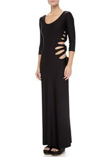 Jean Paul Gaultier Cutouts W/Flower-Detail Maxi Dress