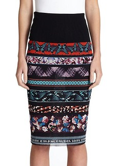 Jean Paul Gaultier Digital-Print Midi Skirt