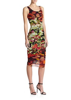 Jean Paul Gaultier Digital-Print Ruched Dress