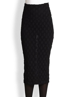 Jean Paul Gaultier Dotted Tulle Pencil Skirt