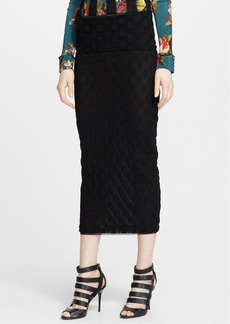 Jean Paul Gaultier Flocked Midi Skirt