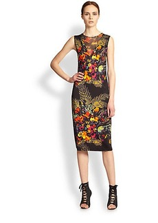 Jean Paul Gaultier Floral Print Jersey Dress