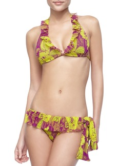 Jean Paul Gaultier Floral-Print Ruffled Two-Piece