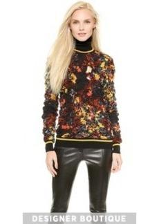Jean Paul Gaultier Floral Print Sweater