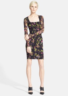 Jean Paul Gaultier Floral Print Tulle Dress