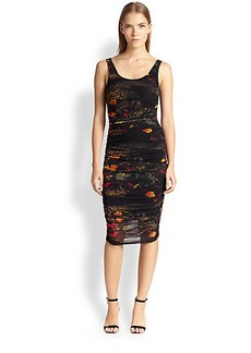Jean Paul Gaultier Floral-Print Tulle Dress