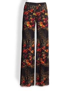 Jean Paul Gaultier Floral Print Tulle Pants