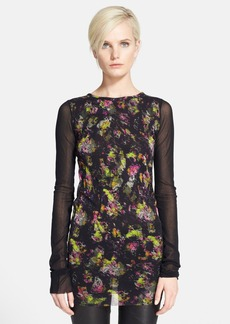 Jean Paul Gaultier Floral Print Tulle Tunic Top