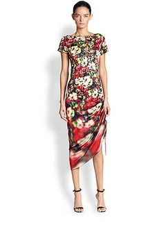 Jean Paul Gaultier Floral Tulle Midi Dress