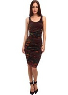 Jean Paul Gaultier Floral Tulle Ruched Tank Dress