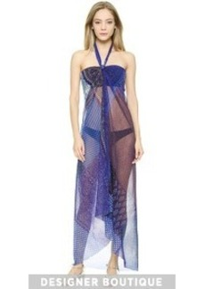 Jean Paul Gaultier Halter Maxi Cover Up Dress