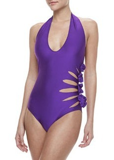 Jean Paul Gaultier Halter Top One-Piece Swimsuit, 430 Primula
