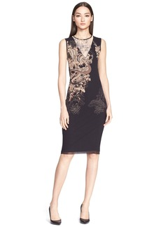Jean Paul Gaultier Illusion V-Neck Tattoo Print Tulle Dress (Nordstrom Exclusive)
