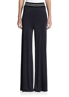 Jean Paul Gaultier Jersey Wide-Leg Pants