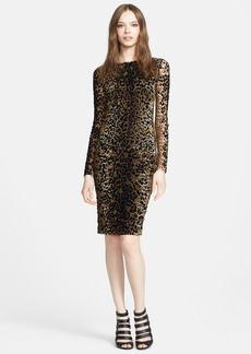 Jean Paul Gaultier Leopard Print Flocked Dress