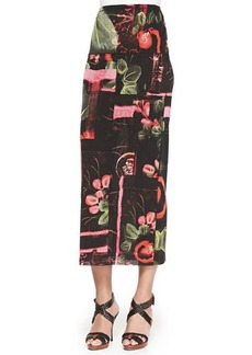 Jean Paul Gaultier Long Printed Tube Skirt
