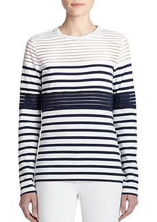 Jean Paul Gaultier Mixed-Stripe Tee