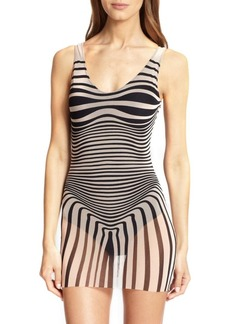Jean Paul Gaultier One-Piece Optical Tulle Swimsuit