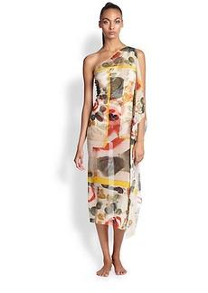 Jean Paul Gaultier One-Shoulder Side-Draped Dress
