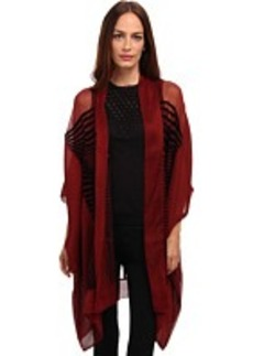 Jean Paul Gaultier Optic Flocked Silk Oversized Cardigan