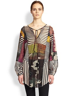 Jean Paul Gaultier Optic Patchwork Tunic