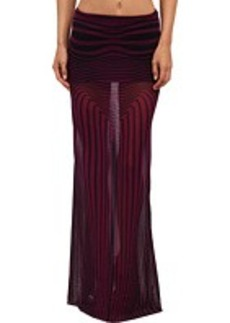 Jean Paul Gaultier Optic Tulle Maxi Skirt w/ Waistband