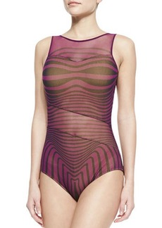 Jean Paul Gaultier Optical Illusion Sheer-Inset One-Piece