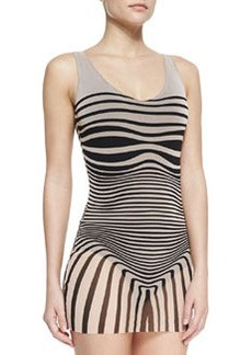 Jean Paul Gaultier Optical Tulle-Overlay One-Piece