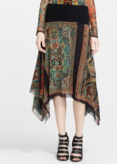Jean Paul Gaultier Paisley Print Asymmetrical Tulle Skirt (Nordstrom Exclusive)