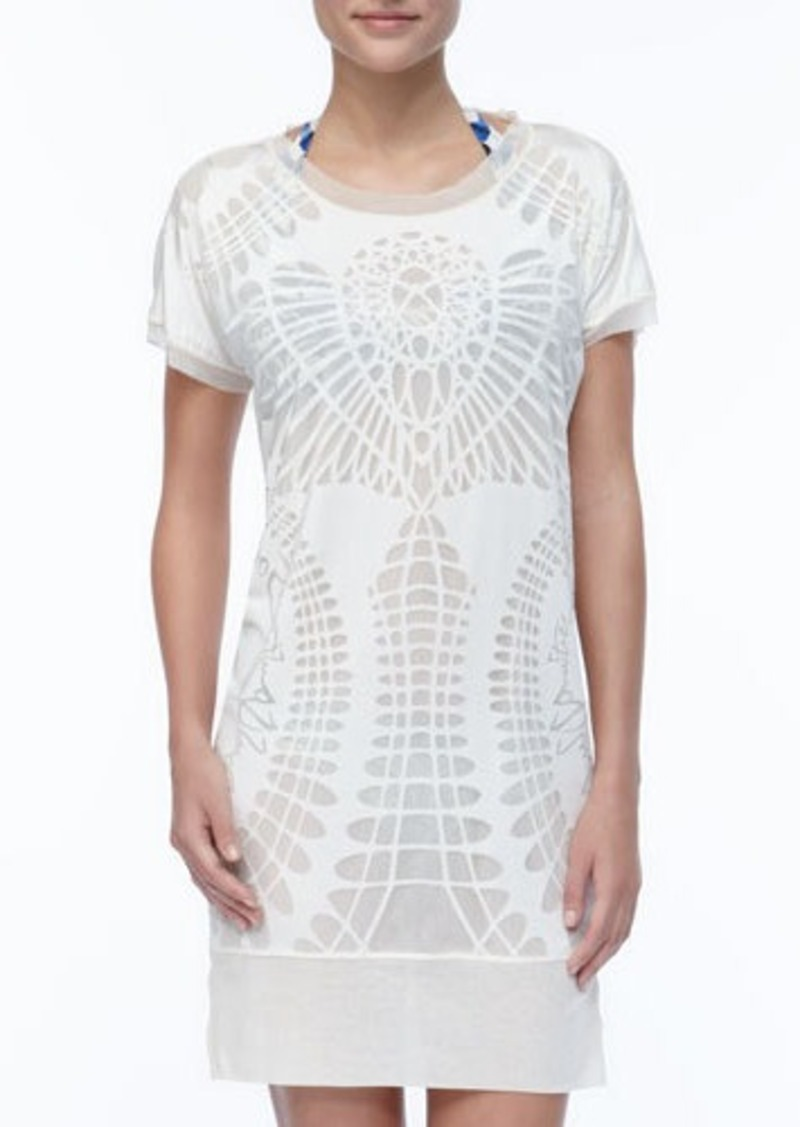 Jean Paul Gaultier Patterned Sheer Coverup