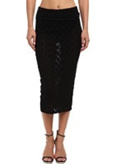 Jean Paul Gaultier Polka Dot Tulle Knee Length Pencil Skirt