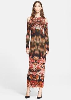 Jean Paul Gaultier Print Cold Shoulder Tulle Long Dress (Nordstrom Exclusive)