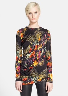 Jean Paul Gaultier Print Draped Blouse