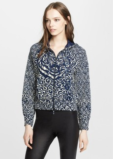 Jean Paul Gaultier Print Flocked Hooded Jacket