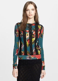 Jean Paul Gaultier Print Sheer Inset Sweater