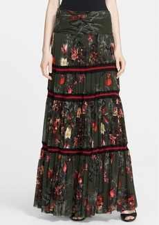 Jean Paul Gaultier Print Tiered Maxi Skirt