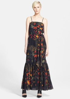 Jean Paul Gaultier Print Tulle Maxi Dress