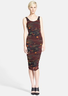 Jean Paul Gaultier Print Tulle Midi Tank Dress